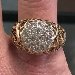 Other - 10k Yellow Gold mens Kentucky Cluster Diamond Ring